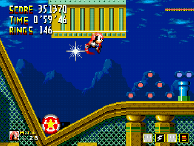 Sonic 1 Megamix (v3.0) - Level City Outskirts - Super Mighty! Hyper Mighty? - User Screenshot
